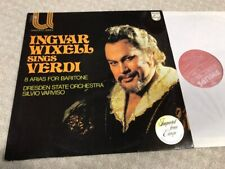 INGVAR WIXELL Sings VERDI LP PHILIPS 6580 171 Imported From Netherlands