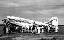 AVIATION , PHOTO ,DC3 AIR FRANCE RESEAU MALGACHE 1961 MADAGASCAR