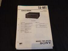 Original Service Manual Sony TA-NR1