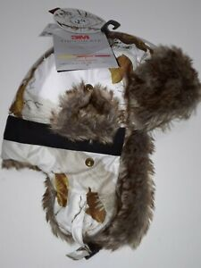 NEW! Hot Shot REALTREE Insulated White CAMO Bomber Trapper Hat Faux Fur Ear Flap