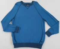 American Eagle Men's Prep Fit L/S Crew Neck Royal Blue Thermal Sweater - Size XL