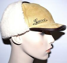 NEW $690.00 GUCCI MADE IN ITALY SHEARLING HAT SIZE M