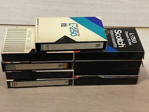 Betamax 8  L-750 Video Tapes 1 L250 Scotch Fuji Recordable Tapes