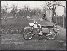 YZ0409 Motocicletta MZ - Fotografia d'epoca - Vintage photo