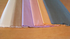 "6 SHEETS OF CREPE PAPER 19""x78"" PASTELS PAPER FLOWER MIX"