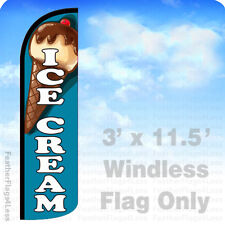 ICE CREAM Windless Swooper Flag 3x11.5' Feather Banner Sign - bq