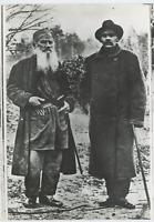 Russia, Tolstoi et Gorki  Vintage silver print. Tirage postérieur Tirage argen