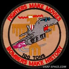 USAF 34th BOMB SQ – BOMBERS MAKE HISTORY - B-1 - Ellsworth AFB - ORIGINAL PATCH