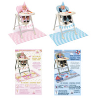 First 1st Birthday Party Boy Girl Blue Pink High Chair Kit Hat Banner Mat Decor