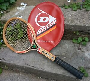Lovely Condition Vintge Dunlop Maxply Superlight Mid Tennis Racquet & Head Cover