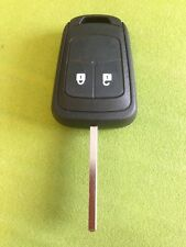 VAUXHALL / OPEL CORSA ASTRA INSIGNIA ETC 2 button remote key case free blade cut