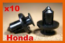 10 Honda Parachoques Fender Fascia panel de terminación Delantal De Tipo Empuje Clips Retención del sujetador