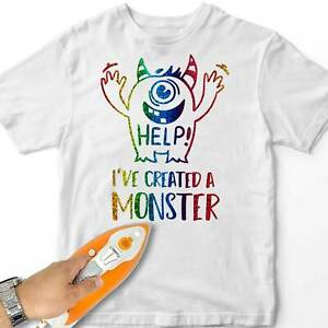 Boy Iron-On T-Shirt Transfer Ive Created A Monster Kids Gift Design