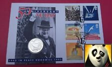 1995 SCARCE £2 Two Pound VE DAY WWII Peace Dove Silver Proof Coin Cover PNC FDC