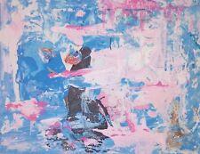 Original Abstract Painting Modern Fine Art Mixed Media Signed Artwork