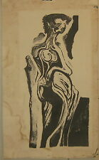 Vintage JOHN THOMPSON Surrealist 'FIGURE' Lithograph - BOSTON Museum School DEAN