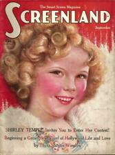 YOUNG CUTE CHILD STAR SHIRLEY TEMPLE ORIG VINTAGE 1935 SCREENLAND MAGAZINE