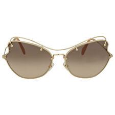 Miu Miu Pale Gold Metal Sunglasses