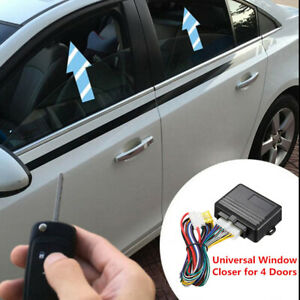 Universal Car Accessories 12V Automatic Window Closer System Kit Fit For 4 Doors