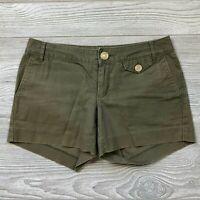 Banana Republic Olive Green Chino Shorts Women's Size 4 W72