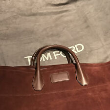 Tom Ford Men's Large Brown Suede Leather Shopper Tote Bag Brand New RRP £2700