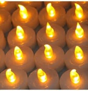 ALLEN ROTH LED TEA LIGHTS BULK LOT 50 Snow WHITE Flameless/LED Candle NEW