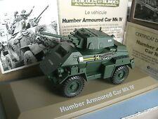 MILITAIRES ET BLINDES HUMBER ARMOURED CAR MK IV  ATLAS 1/43 e