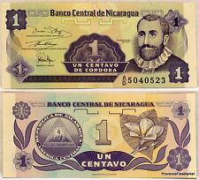NICARAGUA billet neuf de 1 CENTAVOS Pick167  F.H. CORDOBA    petit format 1991