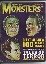 FAMOUS MONSTERS # 19 TALES OF TERROR Vincent Price  Peter Lorre & Basil Rathbone