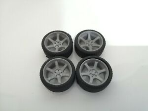 1/18 Scale Volk Rays Racing TE37 Wheels tyres tunning styling 3d Printed