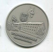 Zoll Plakette Zoll Hundeschule Neuendetelsau Silberstufe 80 mm (T358)