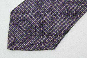 HERMES PARIS men's silk neck tie made in France
