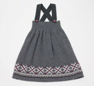 Hanna Andersson 90 Gray Sweater Dress Toddler Girls Size 3 3T