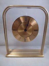 Vintage HAMILTON  Brass & Lucite  SKELETON DESK CLOCK West Germany