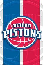 DETROIT PISTONS - 2014 LOGO POSTER - 22x34 NBA BASKETBALL 13874