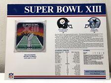 Vintage Official NFL 1979 Super Bowl XIII Patch Steelers VS Cowboys Orange Bowl