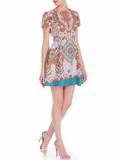Polyester Paisley Mini Dresses for Women