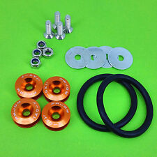Orange Quick Release Fasteners For Car Bumpers Trunk Fender Hatch Lids Kit