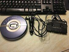 Sony CD Walkman D-EJ100 w/ case logic bag, car power cord, cassette adapter
