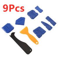 9pcs Silicone Scraper Caulking Grouting Sealant Finishing Cleaning Tool Set UK