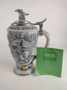 VTG AVON Winner's Circle Horse Race Collectible Handcrafted Beer Stein Numbered