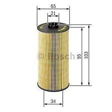 Elemento de Bosch Filtro De Aceite F026407157-SINGLE