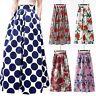 Vintage retro long skirt flared floral boho new high waist women maxi dress