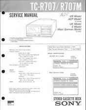 Sony Original Service Manual per TC-R 707/R 701m