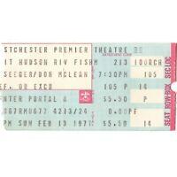 PETE SEEGER & DON McLEAN Concert Ticket Stub TARRYTOWN NY 2/13/77 WESTCHESTER