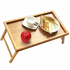 Bed Tray Table with Folding Legs Serving Breakfast in or Use As TV Laptop Snack
