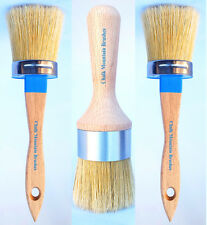 Chalk Painting Brush Kit/w 2 Boar Bristles Med Pro Paint & 1 lg Wax Pro Brush