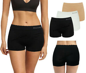 Womens Black Knickers Underwear Shorts Stretch Yoga Boxers Sports Soft Hot Pants