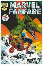MARVEL FANFARE #1 Mar 1982 NM- 9.2 W SPIDER-MAN APP MILLER GOLDEN Cover &Art B/O