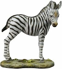 "6.5"" Baby Zebra Statue Animal Figure Figurine Decor Collectible Wildlife Safari"